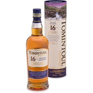 Tomintoul 16 Jahre Speyside Single Malt Whisky 40% vol. 0,7l