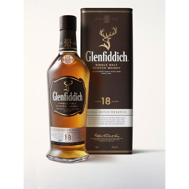 Glenfiddich 18 Jahre Small Batch Reserve Single Malt Scotch Whisky 40% vol. 0,7l