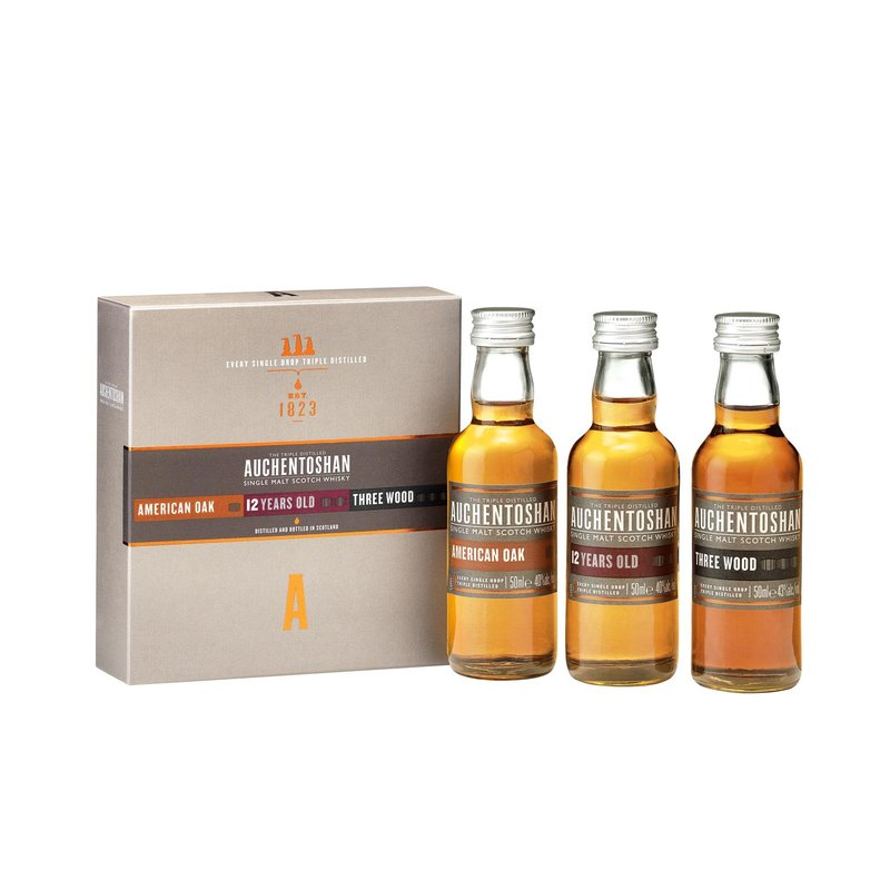 Auchentoshan Set American Oak + 12 Jahre + Three Wood 3 x 5 cl Whisky 41% vol. 0,15 l