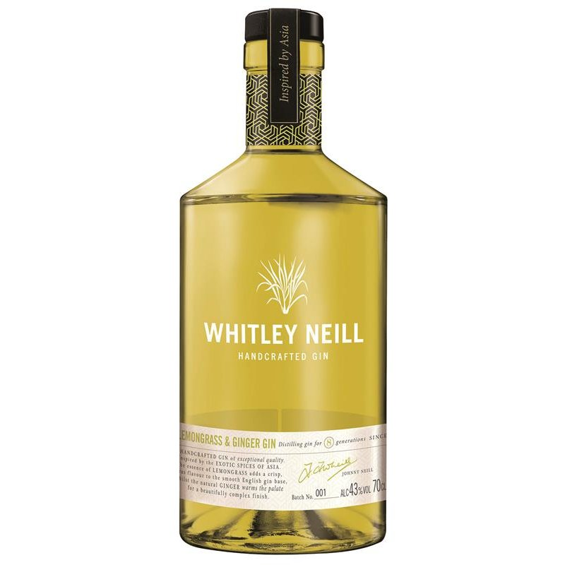 Whitley Neill Lemongras and Ginger Handcrafted Dry Gin 43% vol. 0,7l